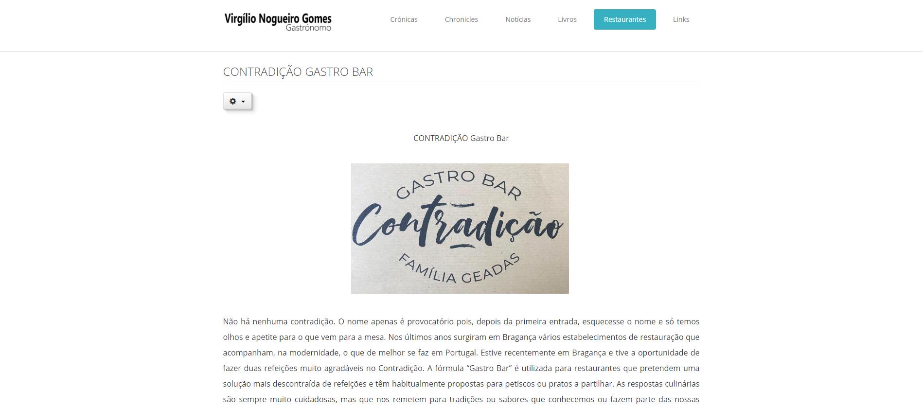 Contradição | Virgílio Nogueiro Gomes